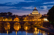 Night view at St. Peter's cathedral in Rome, Italy - 62888195