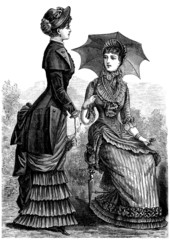 2 elegant Women - end 19th century