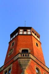 Brick tower of Miramar Palace-Donostia