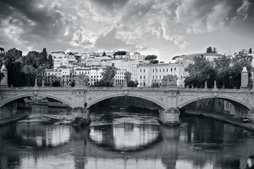 view of ponte Vittorio Emanuelle ll. Rome. Italy.