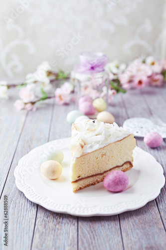 Cheesecake with Coconut for Easter