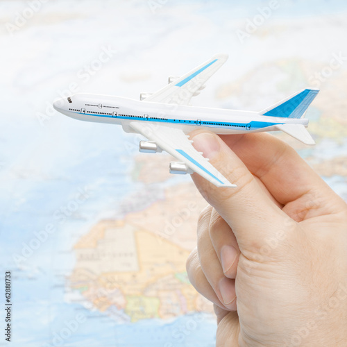 Toy aircraft in hand - 1 to 1 ratio