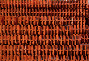 Roof tile stack of thai temple in thailand