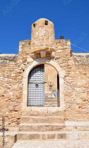 Gate to the old fortress, Crete, Greece, Europe