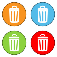 Garbage buttons set