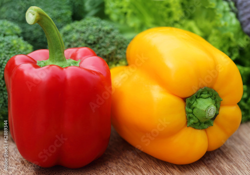 Capsicum with other vegetables