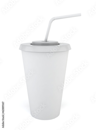 Drink cup with straw