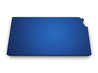 Map Of Kansas 3d Shape