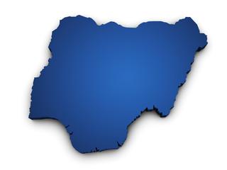 Map Of Nigeria 3d Shape
