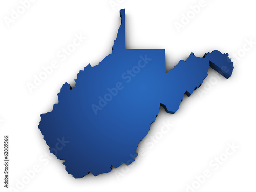 Map Of West Virginia 3d Shape