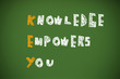 KEY acronym - Knowledge empowers you on a blackboard
