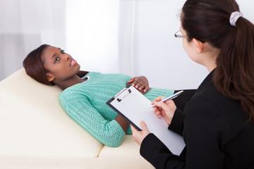 Happy Patient Talking To Psychologist