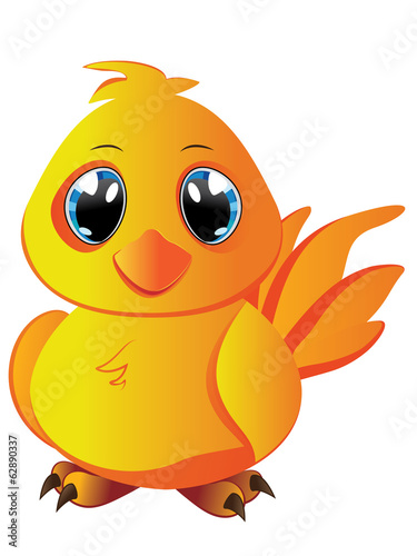 Cartoon Yellow Chicken