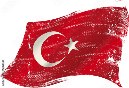 turkish grunge flag