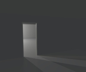 Infinite White Door Background