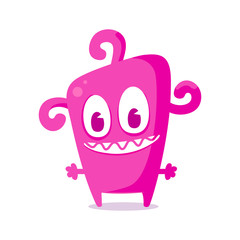 Happy pink monster