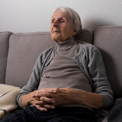 Relaxed in the retirement home