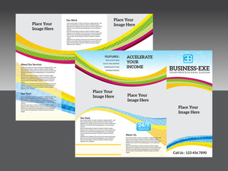 abstract corporate tri fold brochure