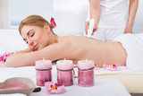 Woman Under Going Microdermabrasion Treatment poster