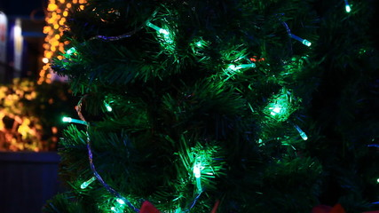 Christmas tree green light moving