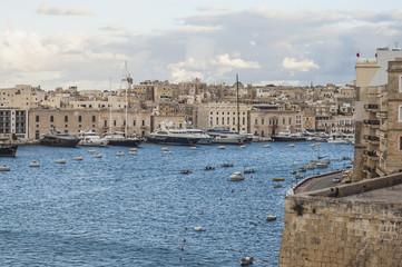 Vittoriosa seafront as seen from Senglea, Malta