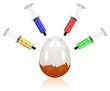canvas print picture - Medikamente im Ei