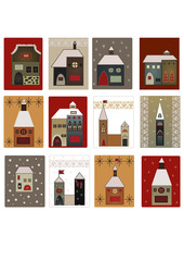 houses set for scrapbooking