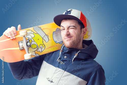 Skateboarder isolated