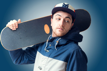 Skateboarder isolated
