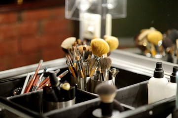 Some make-up brushes and accessories