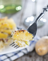 Potato Gratin on a Fork