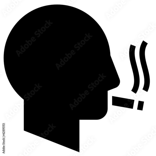 Smoking man vector icon