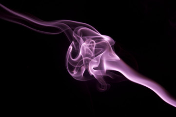 Purple Smoke Abstract