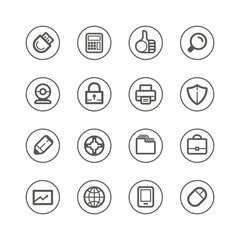 Web technology and media icons