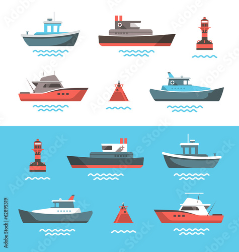 Vector illustration of boats - 62895319