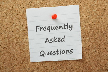 The phrase Frequently Asked Questions