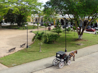 street scenery of Izamal
