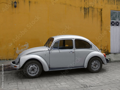 vintage car in Izamal
