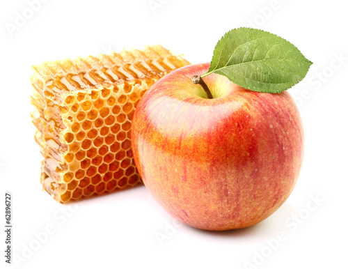 Apple with honeycomb
