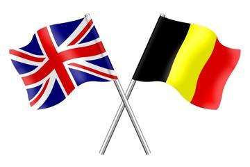 Flags: Great Britain and Belgium