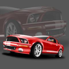 PS starker Sportwagen rot