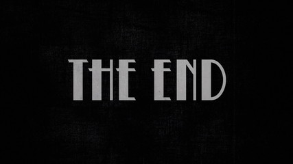 Film vintage The End animation 20s