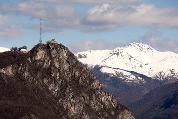 View of the Lugano's mountains from Park St. Grato, Carona
