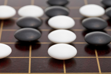 position of stones during go game playing
