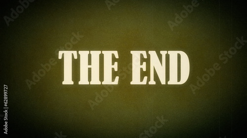 Film vintage The End animation old western