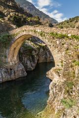 Genoese bridge at Asco in Corsica