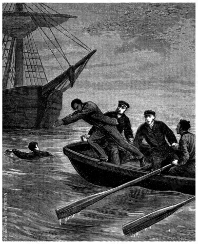 Rescue - Sauvetage - 19th century