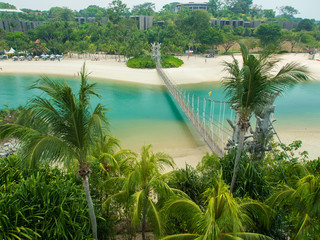 Suspension Bridge in Palawan Beach