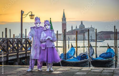 Foto op Plexiglas Venetie Venetian carnival masks