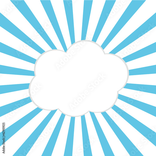 Cloud bubble, vector illustration